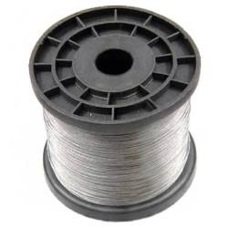 Câble acier inoxidable 304 L gainé PVC transparent pour panneaux LED longueur1m