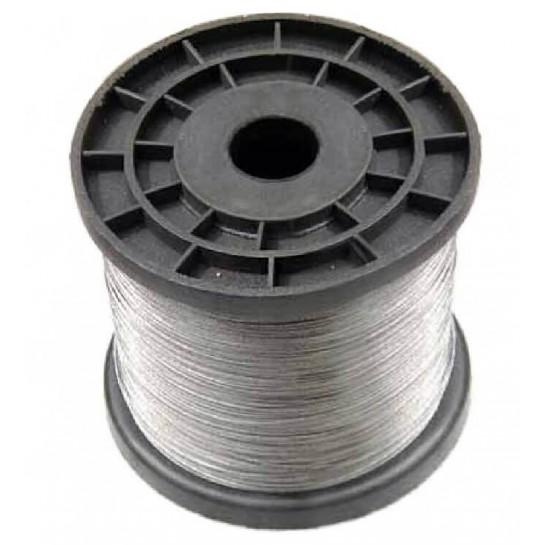 Câble acier inoxydable 304 L gainé PVC transparent pour panneaux LED longueur1m