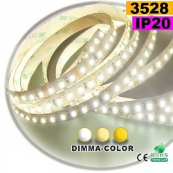 Strip Led dimma-color 3528 ip20 120LED/m 5m