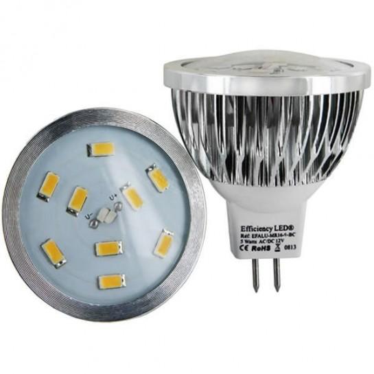 ampoule culot mr16 9 led samsung 5630 spectra color. Black Bedroom Furniture Sets. Home Design Ideas