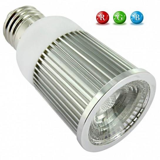 Ampoule LED E27 RVB 5 Watts + télécommande IR