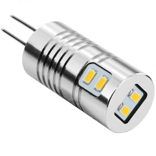 Ampoule 360° Tube 6 leds SMD 3020 12 volts culot G4