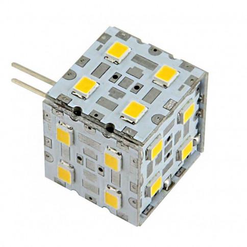 Ampoule cube 20 LED type 2835 SMD 8 à 24 volts culot G4