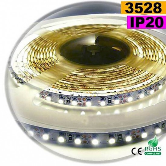 Strip LED blanc chaud leger SMD 3528 IP20 120LED/m