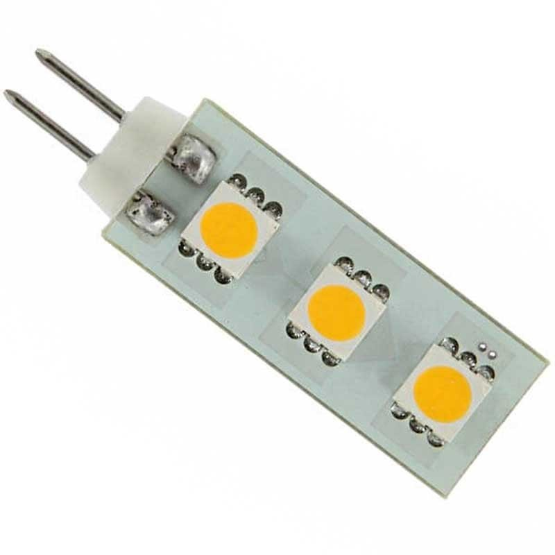 Ampoule led culot g4 12 volts 3 led type smd 5050 - Ampoule led 12 volts ...