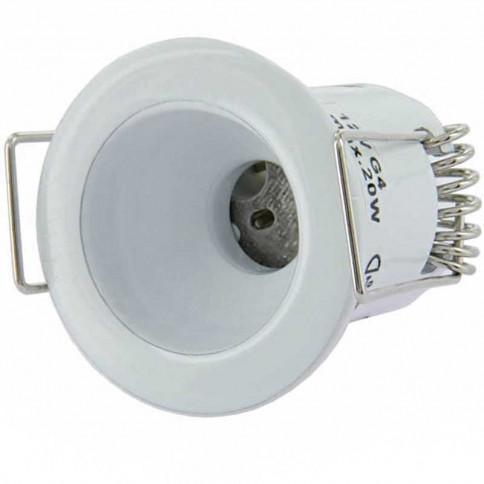 Spot fixe Piccoled blanc à culot G4 pour lampe LEDs ou halogène
