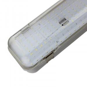 Luminaire étanche Niha LED 60 watts 1.5m diffuseur transparent