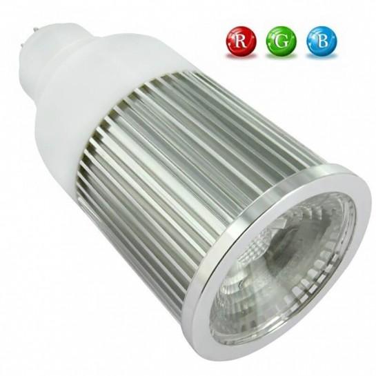 Ampoule LED matricielle MR16 RVB 5 Watts + télécommande IR