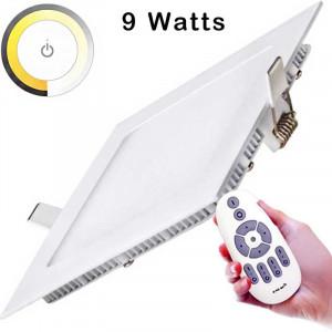 Dalle Templat LED carrée de 9 watts elle permet d'ajuster la température de couleur