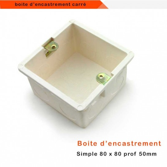 Boîte d'encastrement universelle carré grand format