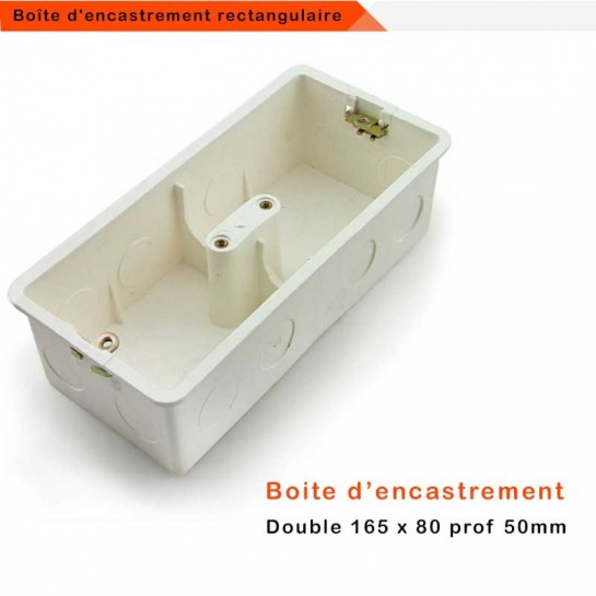 Boîte d'encastrement universelle rectangulaire grand format