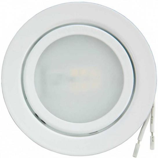 Spot à culot G4 finition blanc laqué pour lampe LED ou Halogène