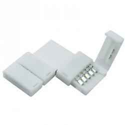 Boitier Clips-connect 90° pour Strip LEDs 12mm - Circuit board à 5 pistes entraxe 1,8mm
