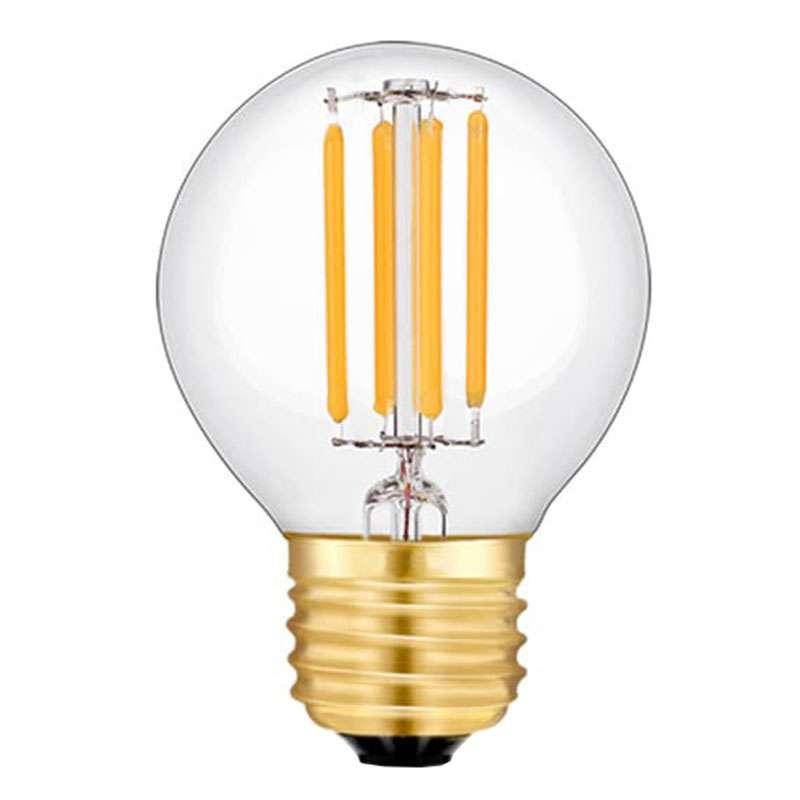 ampoule sph rique quatre filament led de 4 watts culot e27. Black Bedroom Furniture Sets. Home Design Ideas