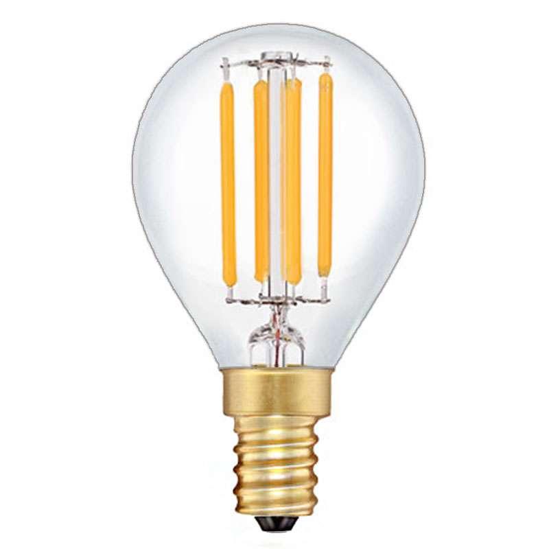 ampoule sph rique quatre filament led de 4 watts culot e14. Black Bedroom Furniture Sets. Home Design Ideas