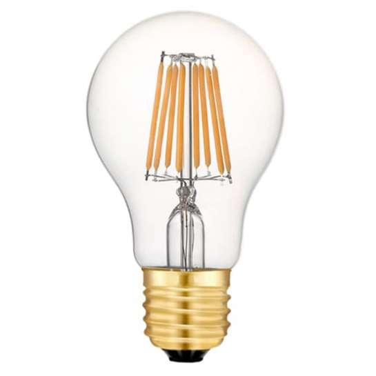 Ampoule LED sphérique 8 watts Ø A60 culot E27 - huit filaments LED