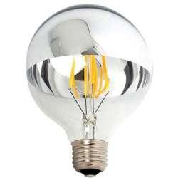 Ampoule sphérique Filament LED G125 demi chrome inférieure