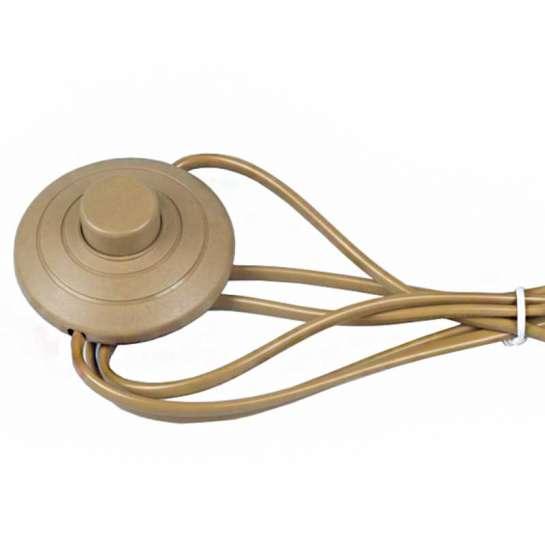 Cordon d'alimentation 230 volts avec interrupteur à pied + prise noir