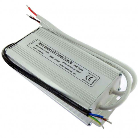 Alimentation LED transformateur 12 volts - 60 watts IP67 double sortie de 30 watts