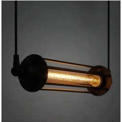 Luminaire horizontale pour lampe T30 vintage à filament