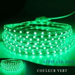 Strip LED 230 volts vert vendu au mètre linéaire