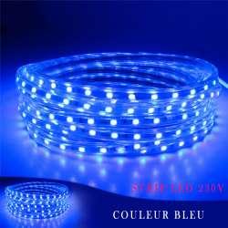 Strip LED 230 volts bleu vendu au mètre linéaire