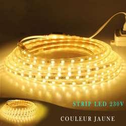 Strip LED 230 volts jaune vendu au mètre linéaire