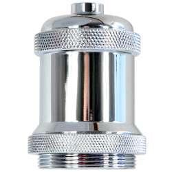 Douille E27 chromé pour lampe style Edison