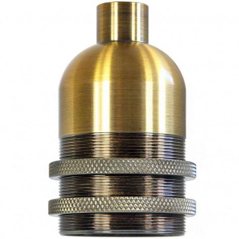 Douille E27 Caravaggio en bronze bague filetée longue Ø 42