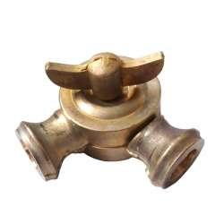 Manchon en laiton Rotule laiton Insillot, une articulation pour tube fileté M10 au pas de 1mm