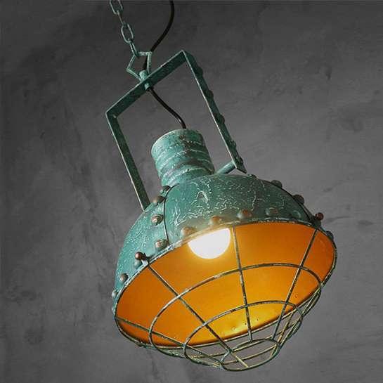 Luminaire Type Gamelle Industrielle Vintage Avec Peinture
