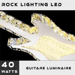 Luminaire guitare électrique LED, une suspension design et rock'n roll