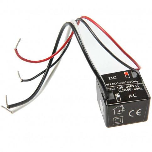 Alimentation LED mini transformateur cube 6 watts 12 Volts
