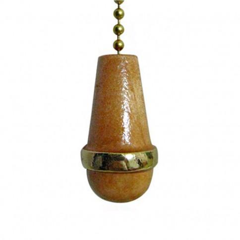 Pendentif en pin et laiton pour interrupteur à tirette montage sur chaine à boule ou cordelette