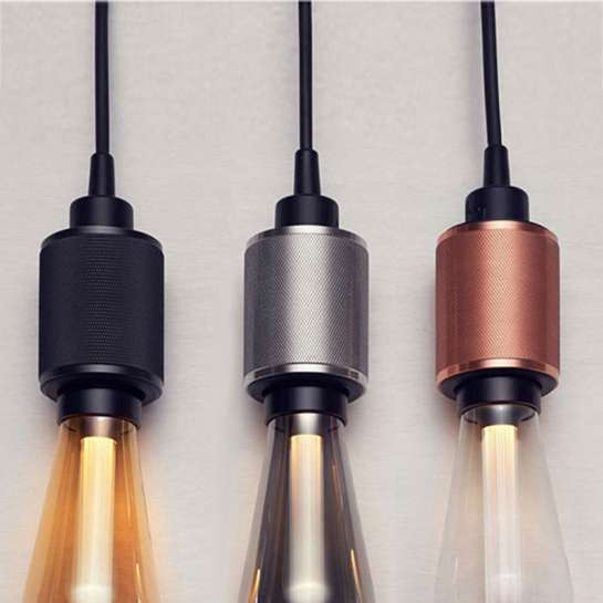 Douille E27 Classic Théme en laiton massif usinée pour lampe style Edison 3 couleurs au choix