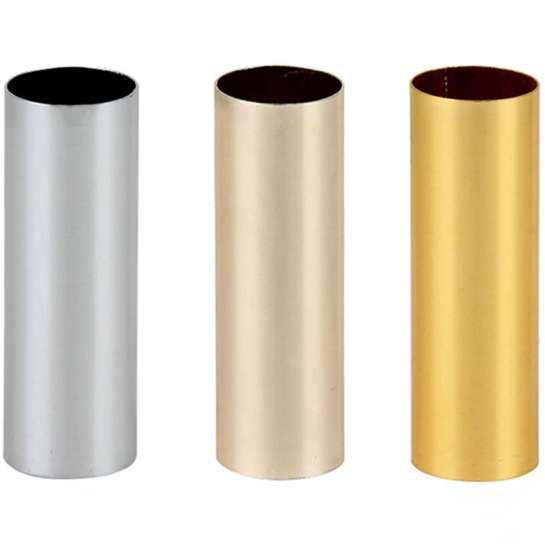 Tube bougie D24 en aluminium anodisé pour luminaire longueur 80mm