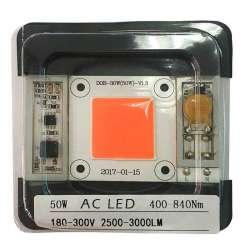 AC LED COB horticole 452nm - 455 nm de 50 watts à alimentation transistorisé