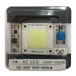 AC LED COB blanc 30000 à 35000 kelvin de 50 watts à alimentation transistorisé