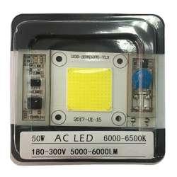 AC LED COB blanc 6000 kelvin de 50 watts à alimentation transistorisé