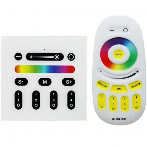 Modifier : Controleur couleur RGB-W tactile mural avec télécommande