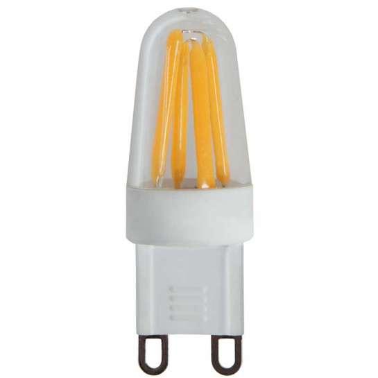 ampoule led g9 équipée de quatre filaments led - dimmable 2.5 watts