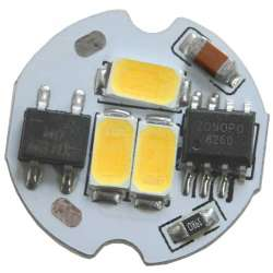 Platine AC LED 2 watts à alimentation transistorisé 230V - 3 LED 5630 - Ø 20 mm