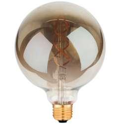 Ampoule sphérique Filament LED G125 ambrée noir