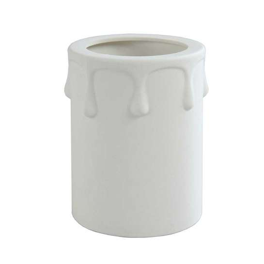 Fausse bougie D40 pour lustre couleur blanc longueur 60mm