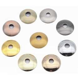 Rondelle bombée Ø 100mm couleur pour luminaire / douille de lampe filetée M10