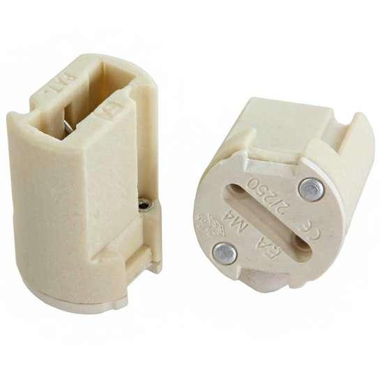 Culots porcelaine pour lampe G9 sur douille M20.8MM
