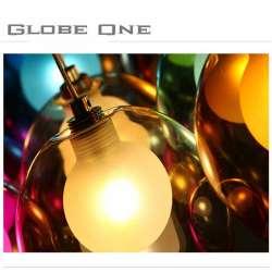 Luminaire GlobeOne en verre de couleur