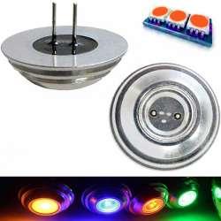 Ampoule LED COB orange culot G4 de 2 watts pin coaxial