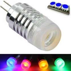 Ampoule à culot G4 COB de 3 watts couleur bleu