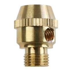 Serre câble électrique en laiton M10 moleté avec vis de bloquage M5
